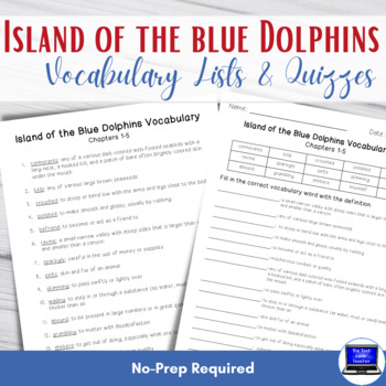 Island of the Blue Dolphins Vocabulary Lists & Tests