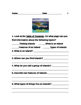 Islands, Mountains and Valleys--Text Evidence