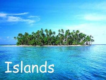 """Islands Nonfiction PowerPoint """"Book"""" for First or Second Grade"""