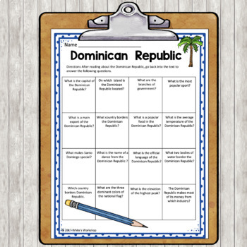 The Dominican Republic for Third Grade