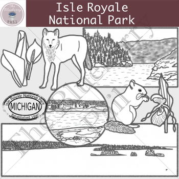 Isle Royale National Park Clipart Set