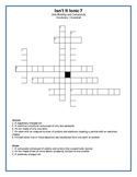 Isn't it Ionic - Vocabulary Crossword