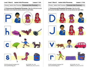 Isolate Initial Phonemes: Lesson 1, Book 3 (Newitt Grade 1)