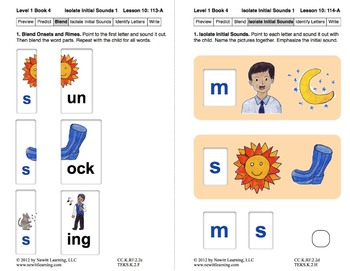 Isolate Initial Sounds 1: Lesson 10, Book 4 (Newitt Prereading Series)