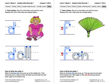 Isolate Initial Sounds 1: Lesson 7, Book 4 (Newitt Prereading Series)