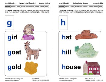 Isolate Initial Sounds 1: Lesson 8, Book 4 (Newitt Prereading Series)