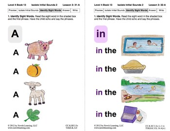 Isolate Initial Sounds 2: Lesson 3, Book 13 (Newitt Decoding Series)
