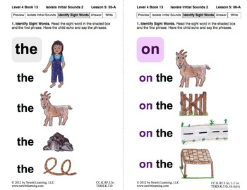 Isolate Initial Sounds 2: Lesson 5, Book 13 (Newitt Decoding Series)