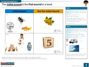 Isolate Initial Sounds F V P B