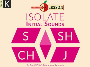 Isolate Initial Sounds S SH CH J