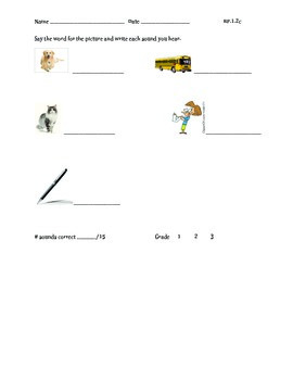 Isolate Phonemes Assessment