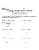 Isolating Variables Partner Activity