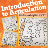 Isolation and Syllable Level Practice for Articulation