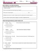 Isomers; Organic Structures & Formulas - Worksheets & Prac