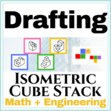 Isometric Cube Stack Drawing Worksheet | 2D to 3D Cube Sta