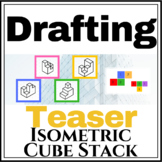 Isometric Cube Stack Drawing Worksheet Pg 1 2D to 3D Isome