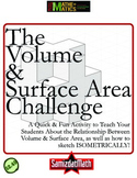 Volume and Surface Area Challenge: 3-D Drawings & Problem Solving
