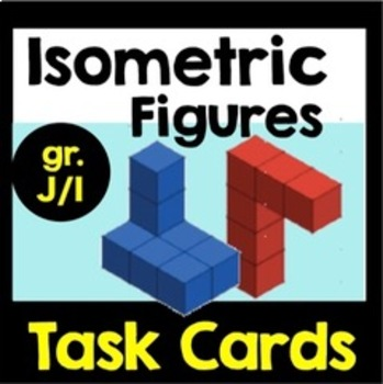 Isometric Figures Building & Drawing Task Cards