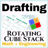 Isometric Rotating Cube Stack Worksheet | 2D to 3D Cube St