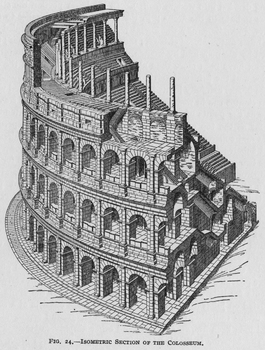 Isometric Section of the Colosseum / Coliseum