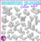 Isometric blocks clip art