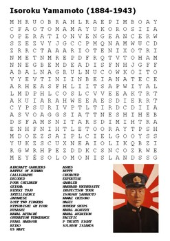 Isoroku Yamamoto - Pacific War World War Two Word Search
