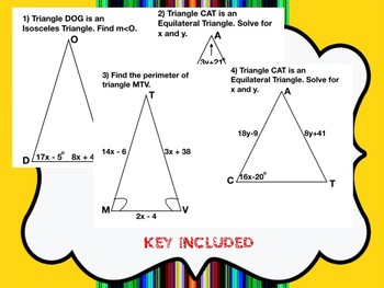 Isosceles/ Equilateral Triangle Color by Numbers