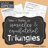 Isosceles & Equilateral Triangles: Notes & Practice