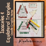Isosceles Triangle & Equilateral Triangle Doodle Notes or