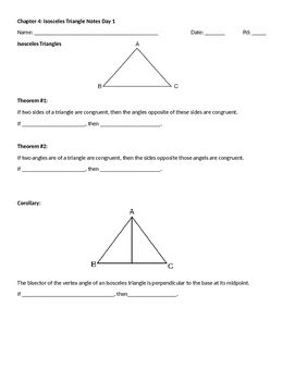 Isosceles Triangle Notes