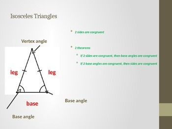 Isosceles and Equilateral Triangle Notes
