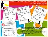 Isosceles and Equilateral Triangle Scavenger Hunt