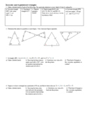 Isosceles and Equilateral Triangles with Answer Key (Editable)
