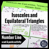 Isosceles and Equilateral Triangles Cut and Paste Activity