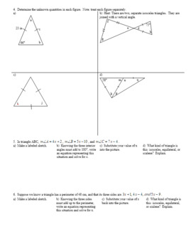 Isosceles and Equilateral Triangles Fall 2013 (Editable)