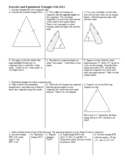 Isosceles and Equilateral Triangles Fall 2013 with Answer Key (Editable)