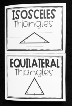 Isosceles And Equilateral Triangles Geometry Foldable By Lisa