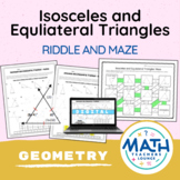 Isosceles and Equilateral Triangles - Puzzle Worksheet