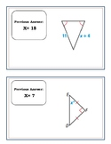Isosceles and Equilateral Triangles Scavenger Hunt