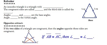 Isosceles and Triangle Inequality