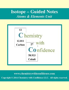Isotope - GUIDED NOTES
