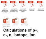 Isotope, ion, proton, electron, neutron calculations