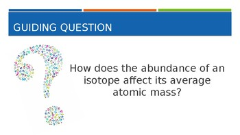 Isotopes:  An Exploration