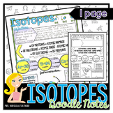 Isotopes: Chemistry and Physics Doodle Note Review