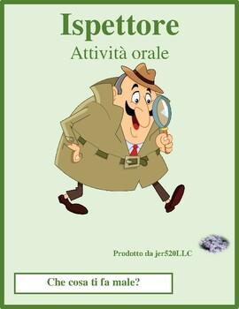 Che cosa ti fa male Ispettore Italian Inspector Speaking activity