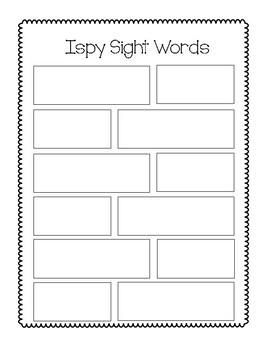 Ispy Sight Words