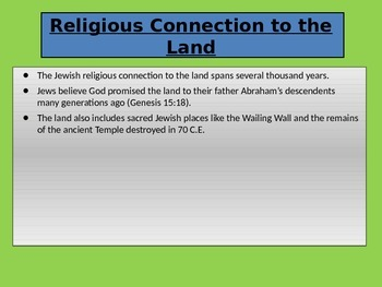 Israel A Brand New Old Country Powerpoint with Close Notes and Answer Key