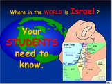 Israel Map Activities