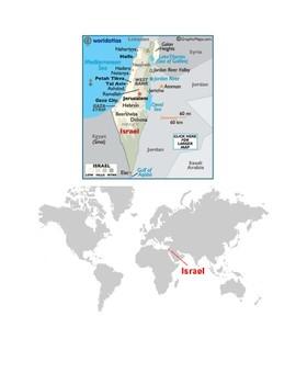 Israel Map Scavenger Hunt
