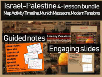 Israel-Palestine 4-lesson Bundle: map & timeline activity, Munich, modern issues